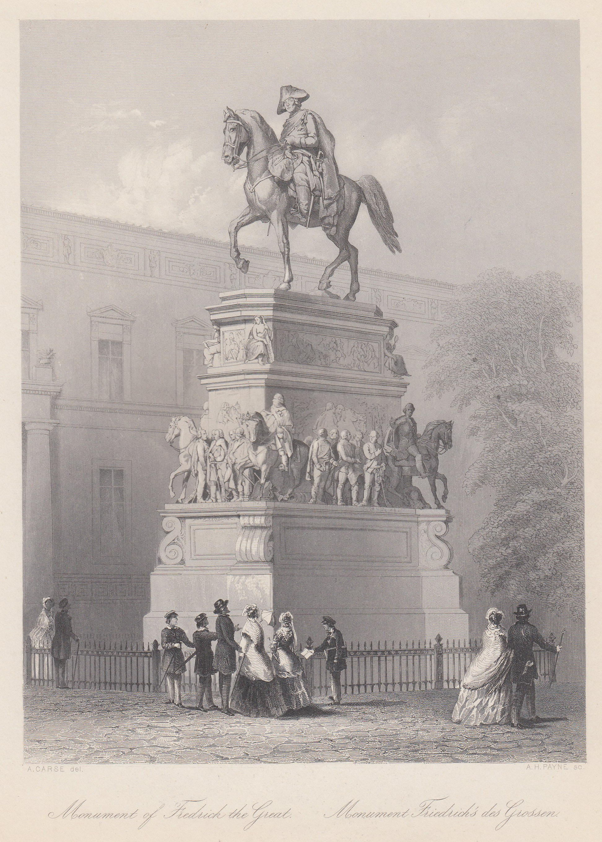 Monument of Fredrick the Great. Monument Friedrich's: Berlin - Denkmäler: