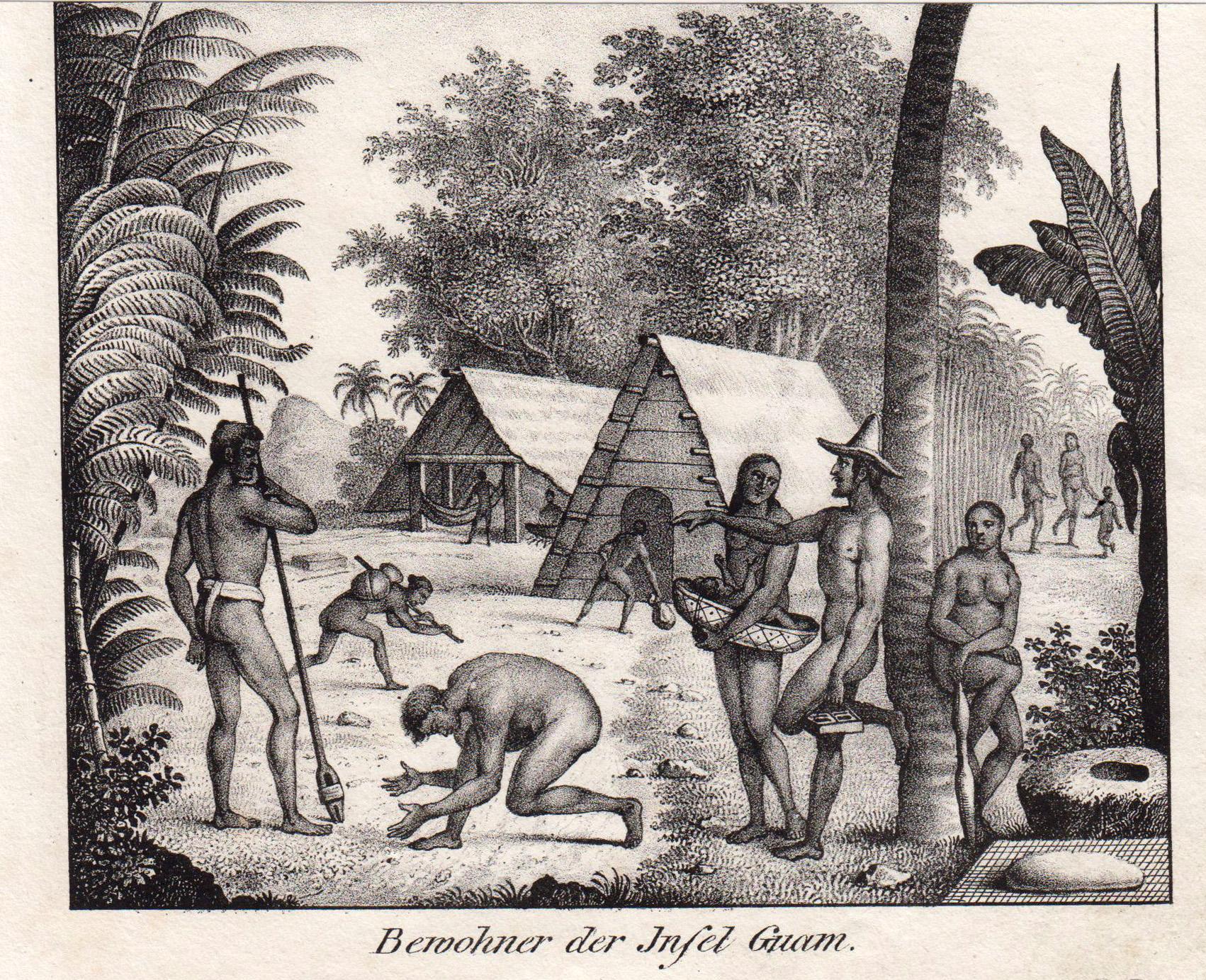 """Chamorros, """"Bewohner der Insel Guam."""".: Guam: Ethnology:"""