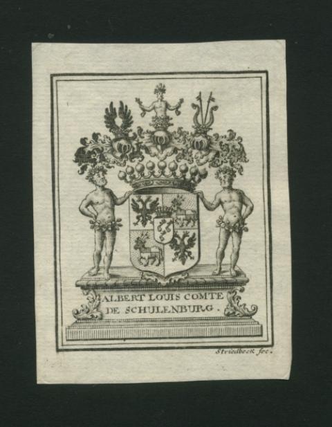 Eignerwappen mit den drei Adlerfängen.: Schulenburg, Albert Louis
