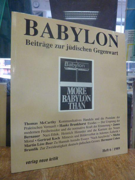 Babylon Beiträge zur jüdischen Gegenwart - Heft: Brumlik, Michael /