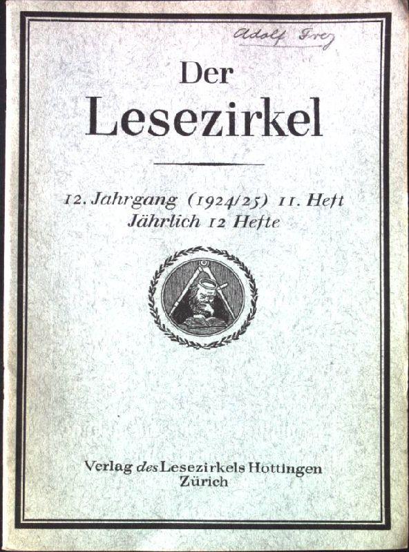Morgenliedchen: in- Der Lesezirkel, 12.Jahrgang, 11.Heft: Frey, Adolf: