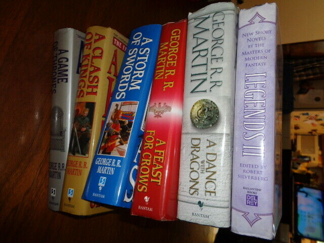 A Game Of Thrones Books 1 5 Book Club Editions Three Signed By George R R Martin Very Good Hardcover 1st Edition Signed By Author S Cwo Books