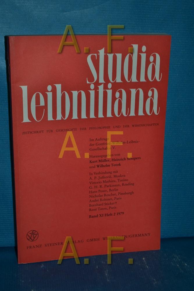 Studia Leibnitiana, Zeitschrift für Geschichte der Philosophie: Müller, Kurt: