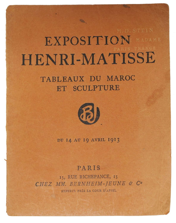 EXPOSITION HENRI - MATISSE Tableaux du Maroc: Exhibit Catalogue]. Matisse,