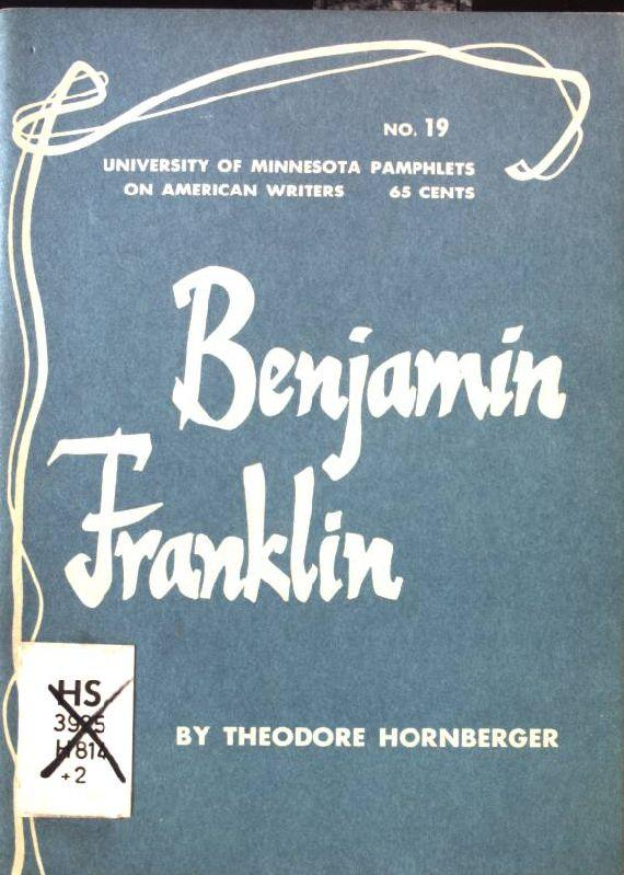 Benjamin Franklin Pamphlets on American Writers, Number: Hornberger, Theodor: