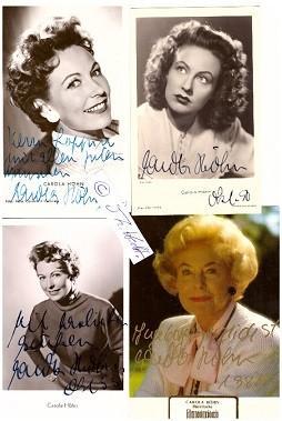 CAROLA HÖHN (1910-2005) deutsche Schauspielerin, heiratete 1941: CAROLA HÖHN (1910-2005)