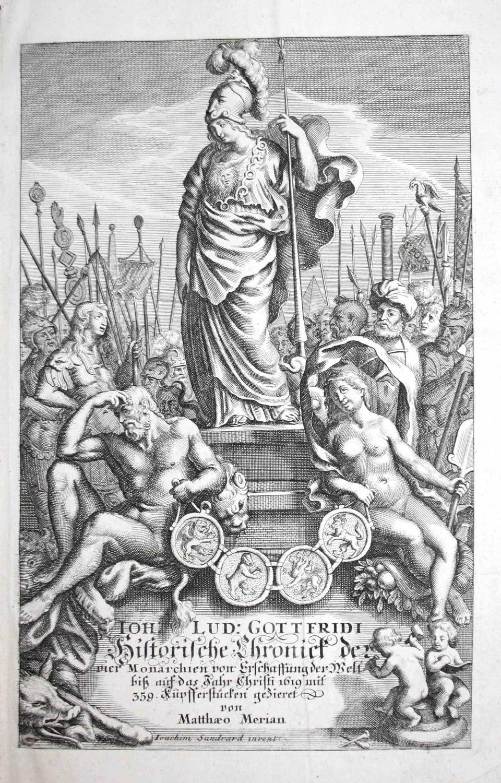Historische Chronik der vier Monarchien von Erschaffung: Gottfried, Johann Ludwig: