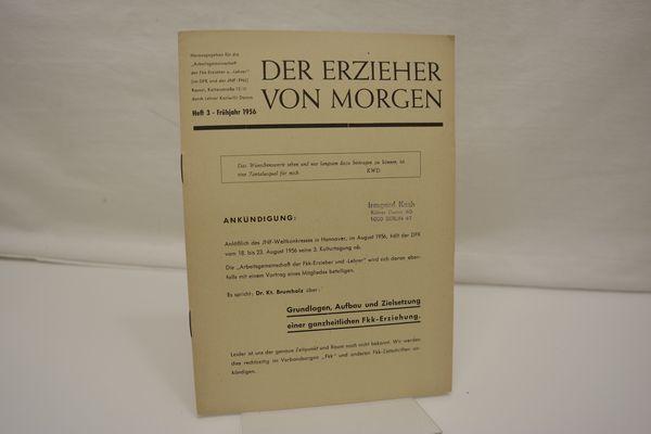Der Erzieher von Morgen, Heft 3, Frühjahr: Damm, Karlwilli (Hrsg.):