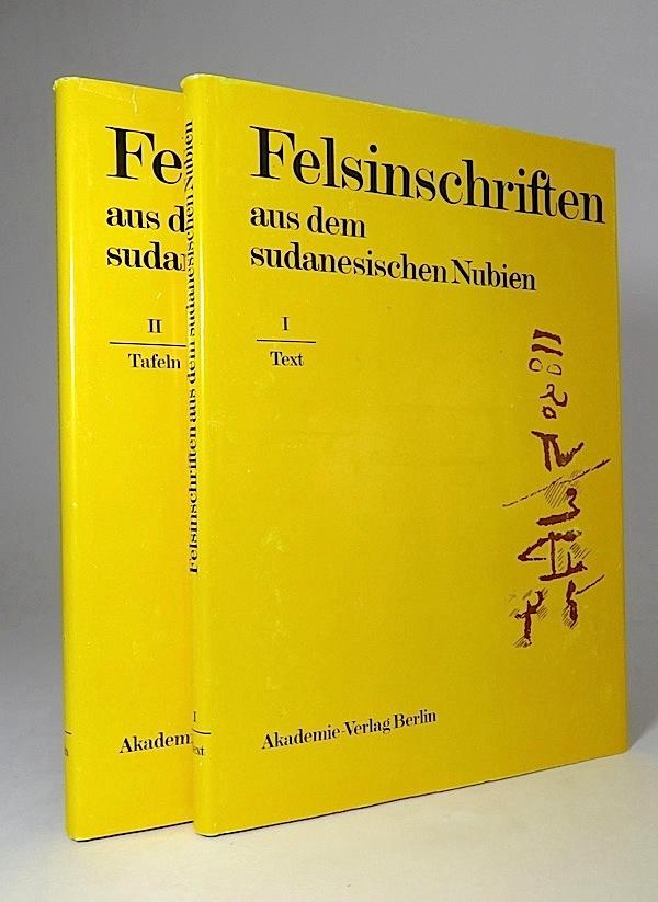 Felsinschriften aus dem sudanesischen Nubien. I: Text;: Hintze, Fritz, Walter