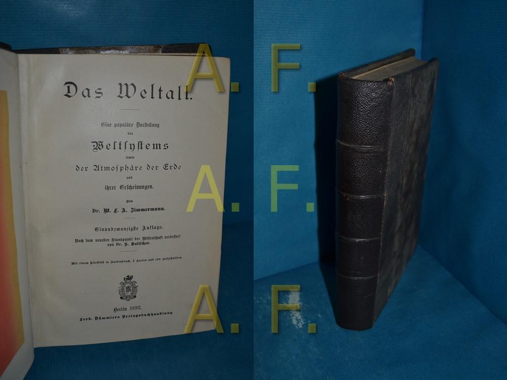 Das Weltall : Eine populäre Darstellung des: Zimmermann, W. F.