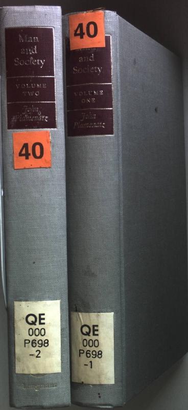 Man and Society: a critical Examination of: Plamenatz, John: