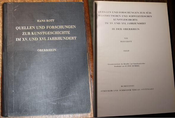 Quellen und Forschungen zur Kunstgeschichte im XV.: Rott, Hans:
