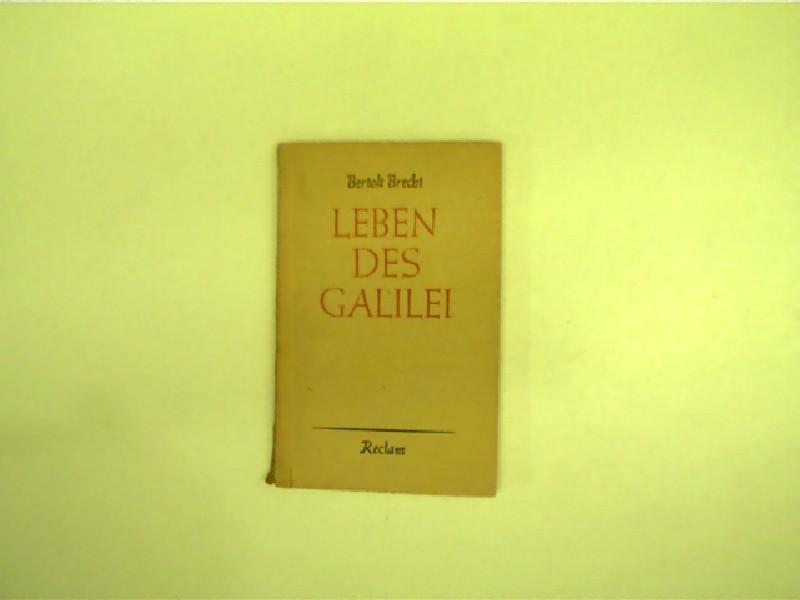 Leben des Galilei,: Brecht, Berthold: