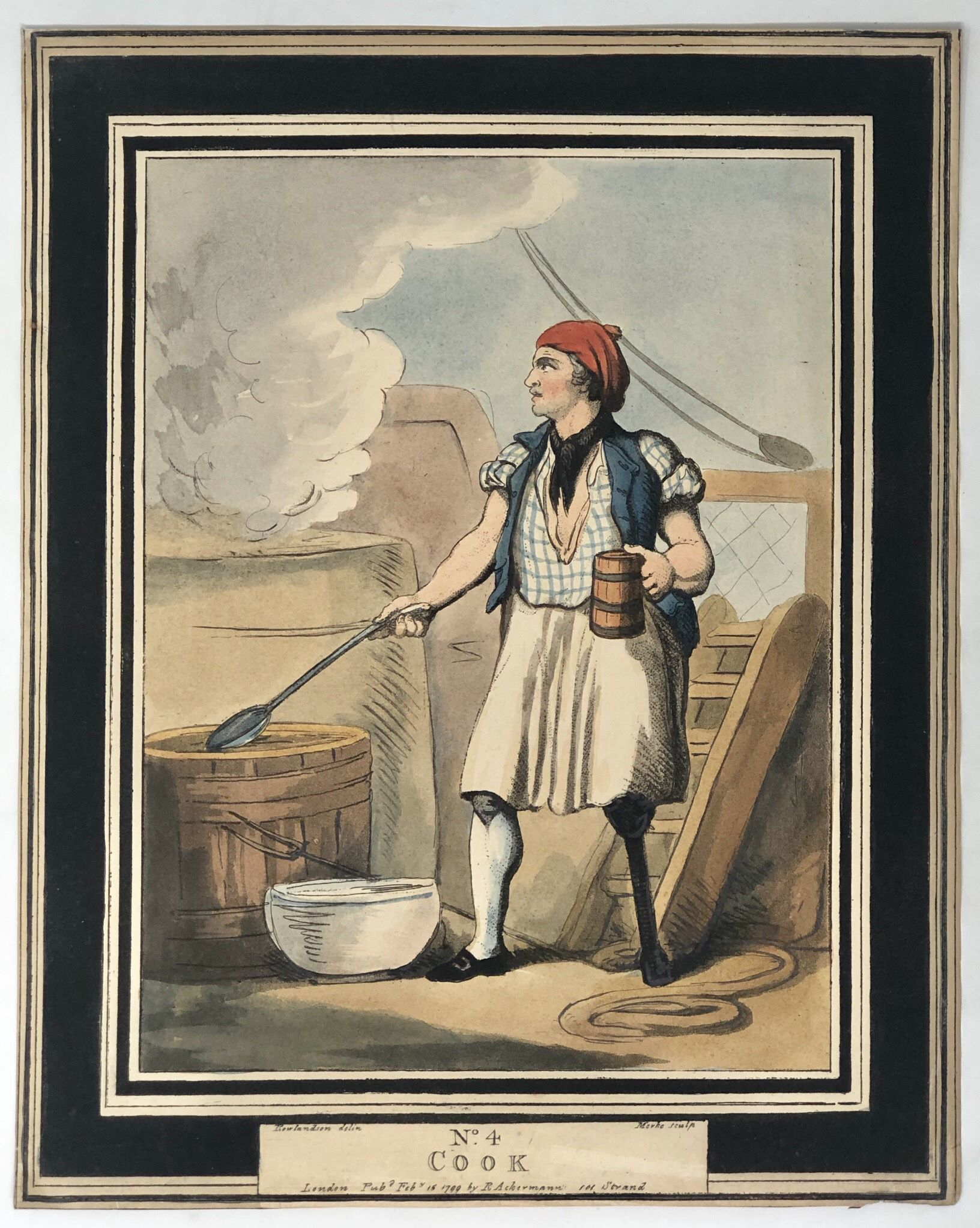 Naval Costumes] Cook: ROWLANDSON