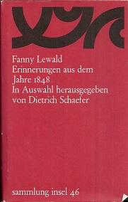 Erinnerungen aus dem Jahre 1848. In Auswahl: Lewald, Fanny: