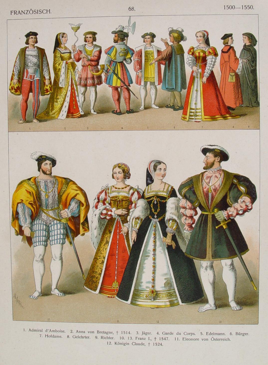 mode und kleidung im frankreich der frühen