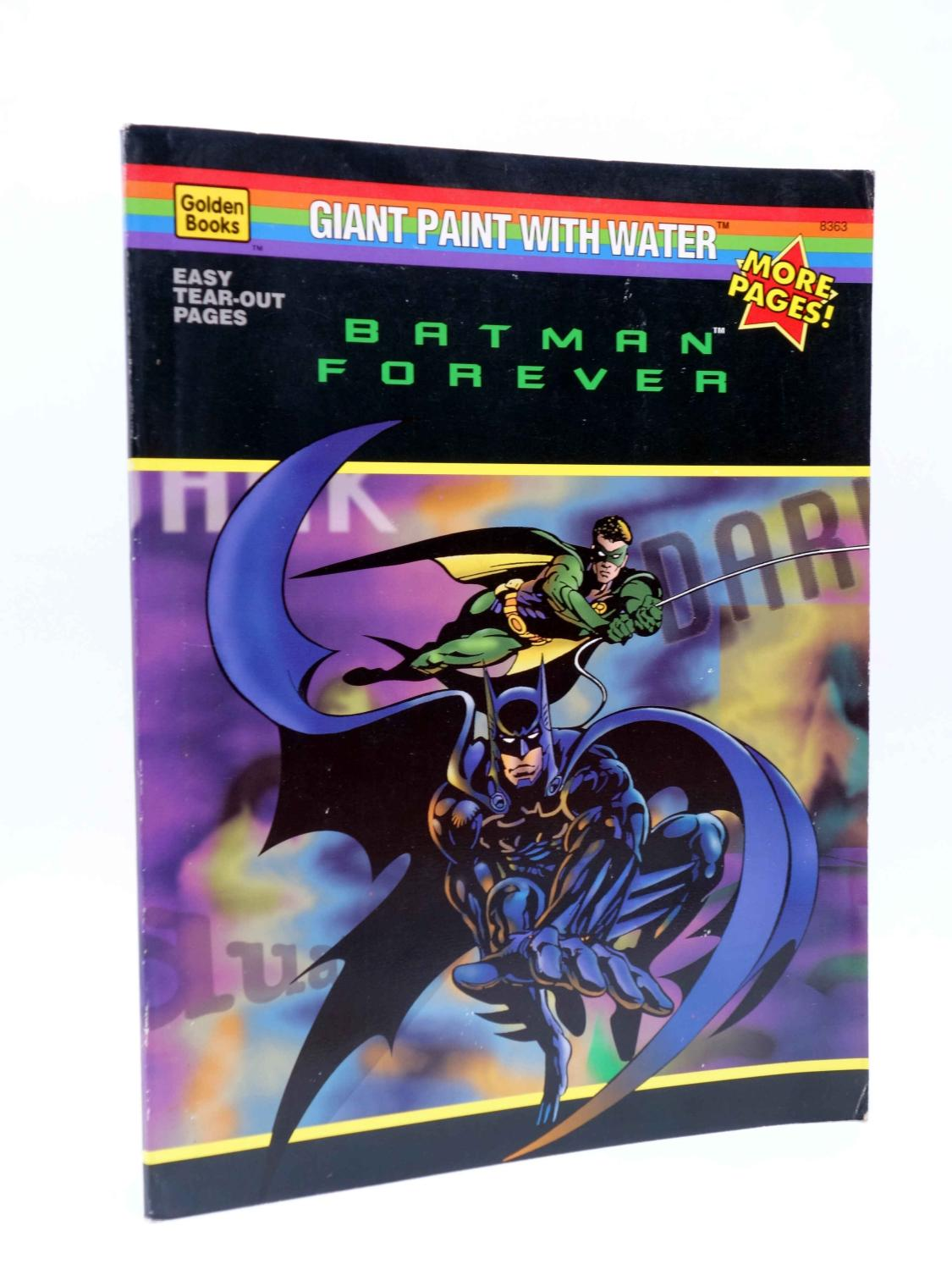 Batman Forever Coloring Book Giant Paint With Water Golden Books 1995 1995 Comic Libros Fugitivos
