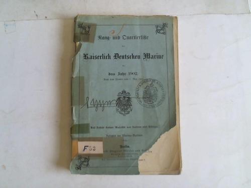 Rang- und Quartierliste der kaiserlich deutschen Marine: Kaiserliche Marine