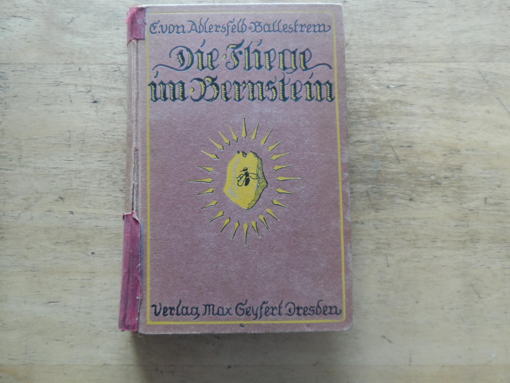 Die Fliege im Bernstein - Roman: Adlersfeld-Ballestrem,E. von
