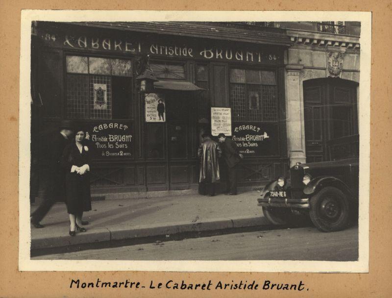 Original Fotografie >Cabaret Aristide Bruant Montmartre<. 84: Unbekannter Fotograf.