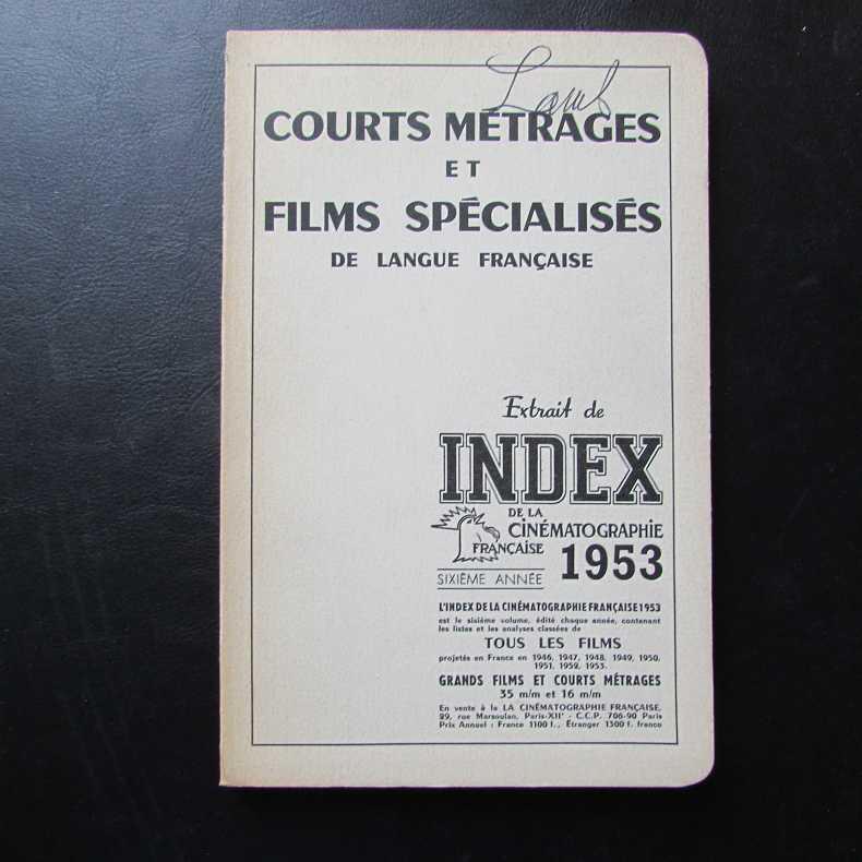 Courts metrages et films specialises de langue: Herausgeber nicht ersichtlich: