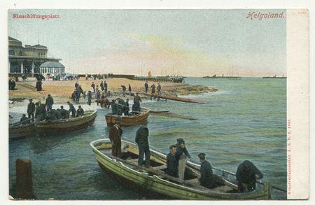 Ansichtskarte: Helgoland Einschiffungsplatz.: Helgoland: