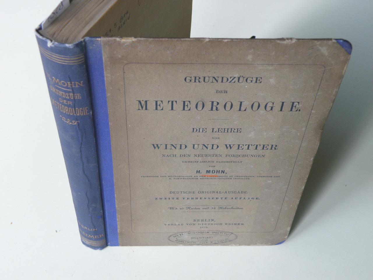 Grundzüge der Meteorologie. Die Lehre von Wind: Mohn, Henrik