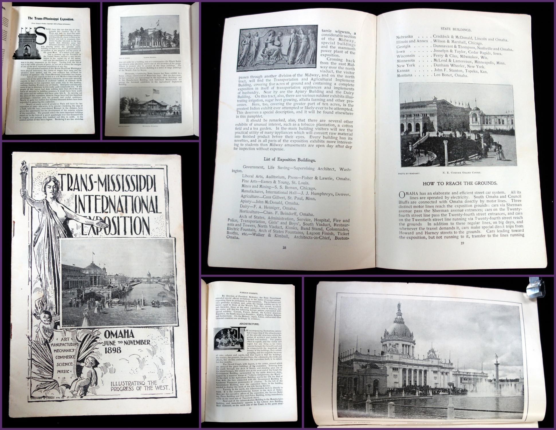 Trans-Mississippi International Exposition Program, June to November: Harper's Weekly