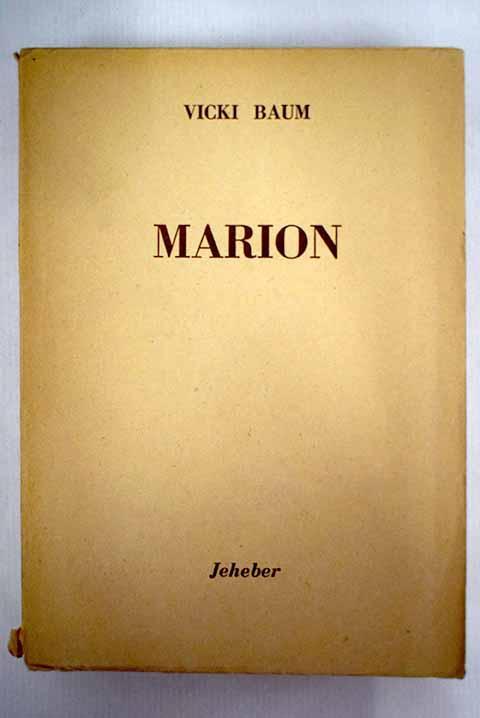 Marion - Baum, Vicki