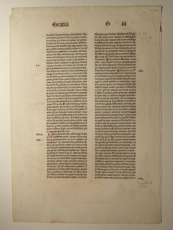Summa praedicantium. (GWM 13114, HC 3993). Blatt: Johannes de Bromyard: