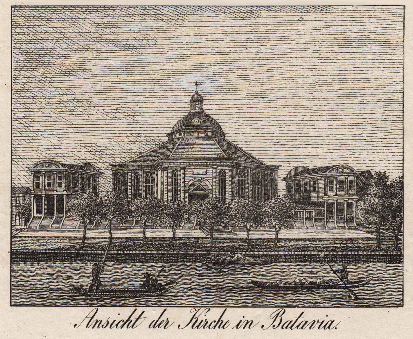 "TA., Kirche, ""Ansicht der Kirche in Batavia"".: Indonesien ( Indonesia"