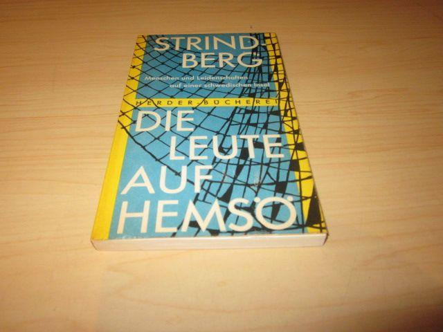 Die Leute auf Hemsö. Roman: Strindberg, August