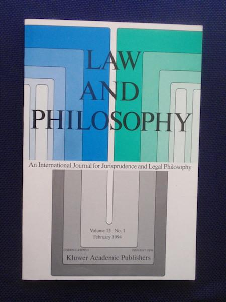 Law and Philosophie. An International Journal for: Mabe, Alan -