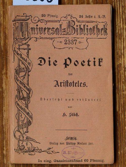 Die Poetik [De arte poetica, dt.]. Übers.: Aristoteles