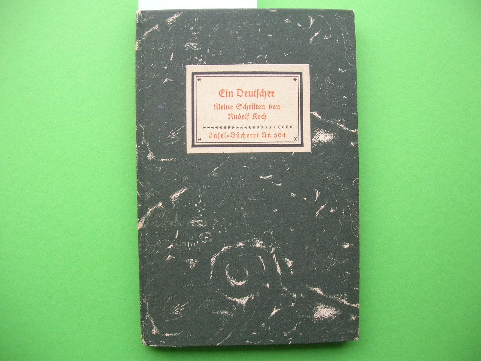 Insel-Bücherei Nr. 504: R. Koch: Ein