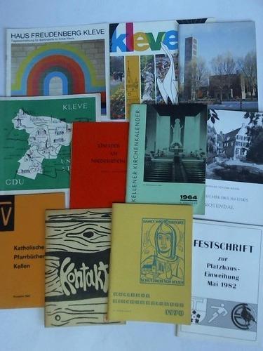 Sammlung von 11 Broschüren: Kleve)