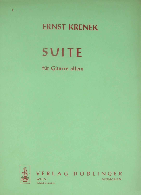 Suite für Gitarre allein,: Krenek, Ernst: