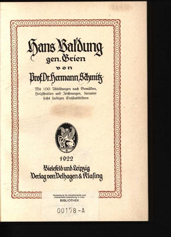 Hans Baldung gen. Grien: Schmitz, Hermann: