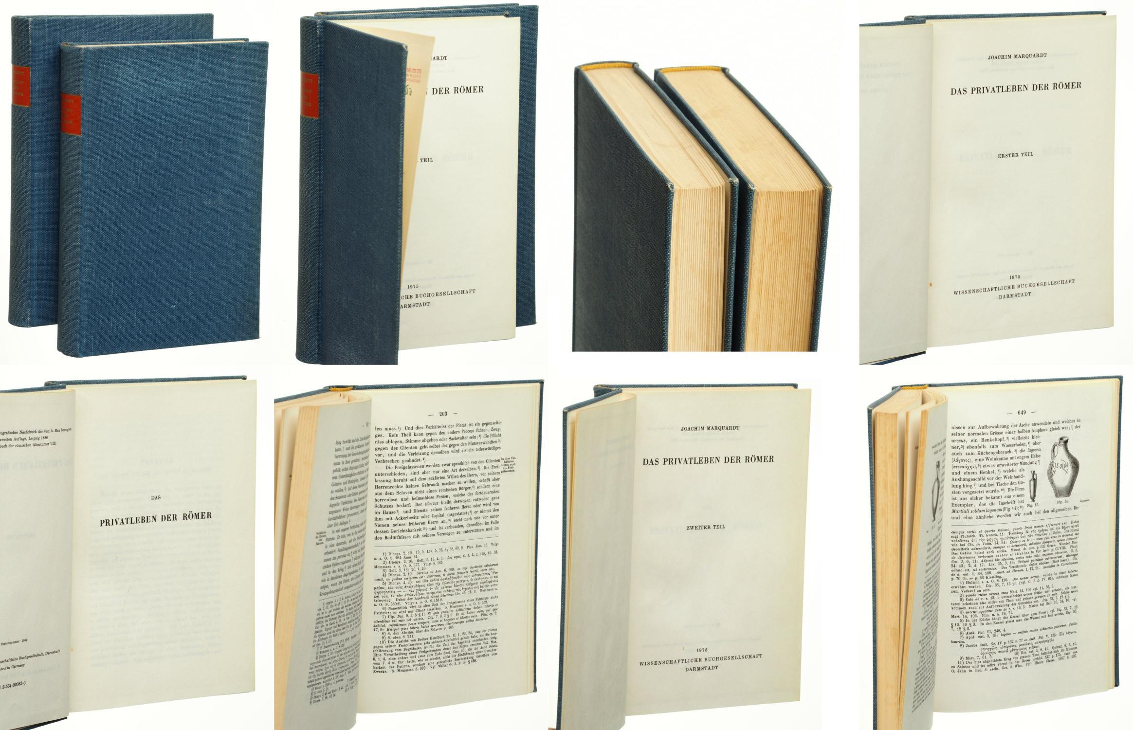 Das Privatleben der Römer. 2 Bände. Unveränd.: Marquardt, Joachim: