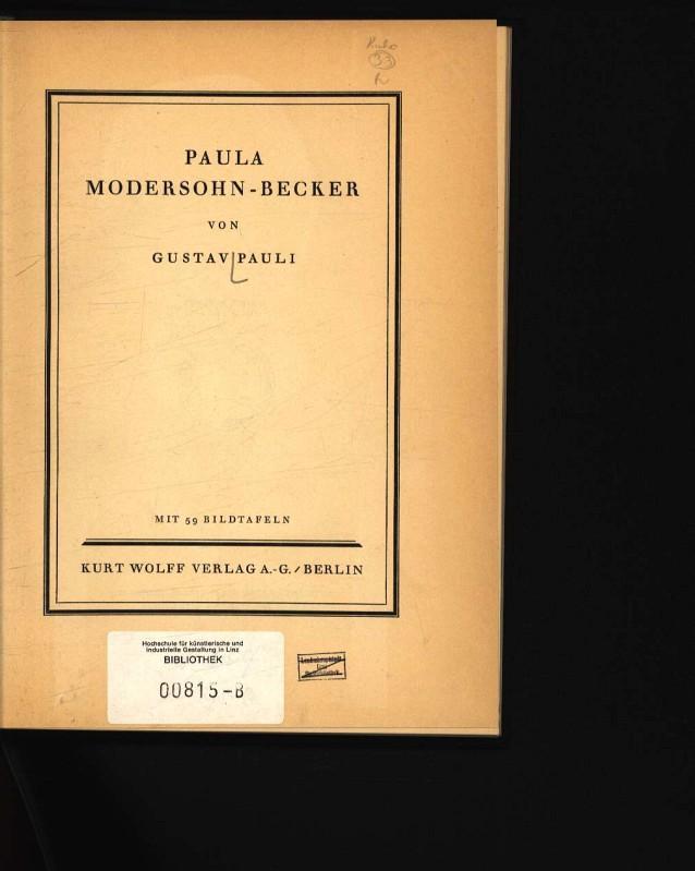 Paula Modersohn-Becker: Pauli, Gustav: