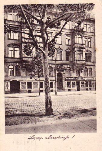 Hugo Krause, Weingroßhandlung, Mozartstraße 1, am Gewandhaus,: Leipzig -