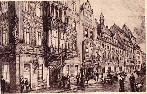Der Thüringer Hof. Erbaut 1454 von Dietrich: Leipzig -