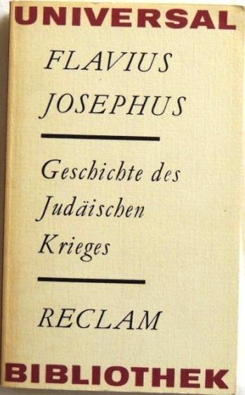 Geschichte des Judäischen Krieges;: Josephus, Flavius