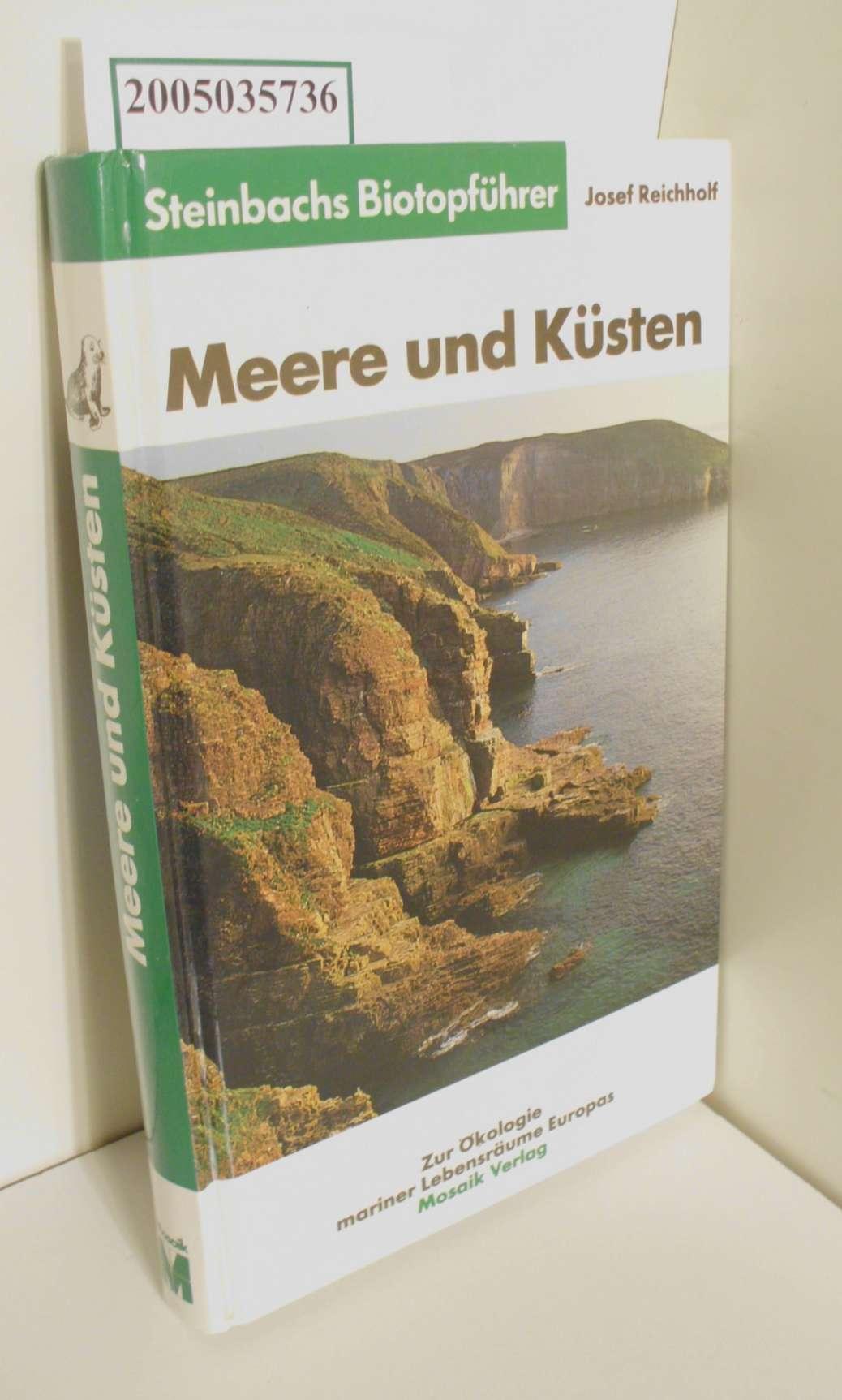 Meere und Küsten : zur Ökologie mariner: Janke, Klaus, Fritz