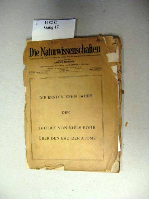 Die ersten zehn Jahre der Theorie von: Berliner, Arnold (Hrsg.).: