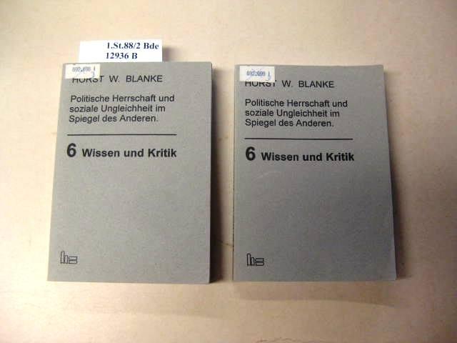 Politische Herrschaft und soziale Ungleichheit im Spiegel: Blanke, Horst Walter.:
