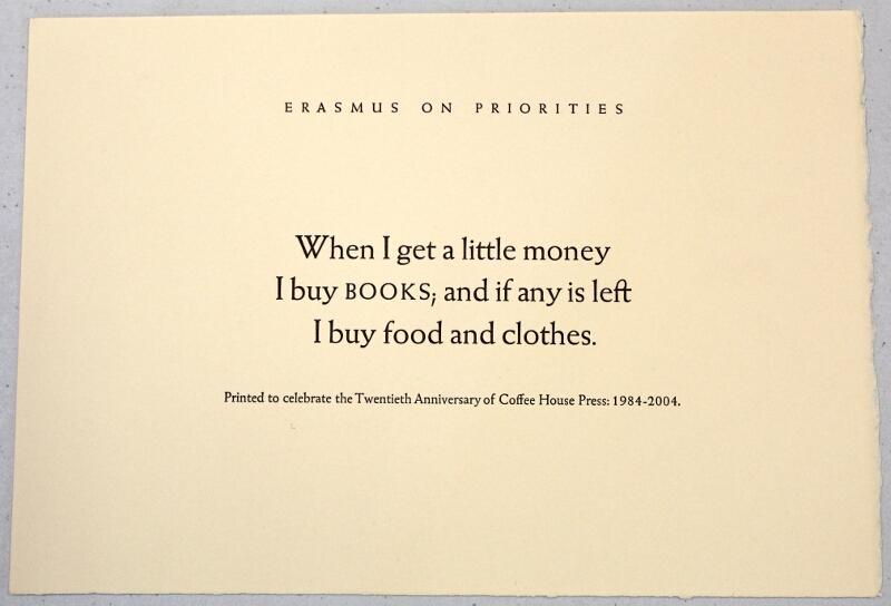 Erasmus on Priorities: Erasmus