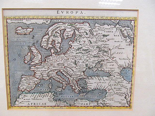Europa. Altkolorierte Kupferstichkarte in der Fassung von: Ptolemäus