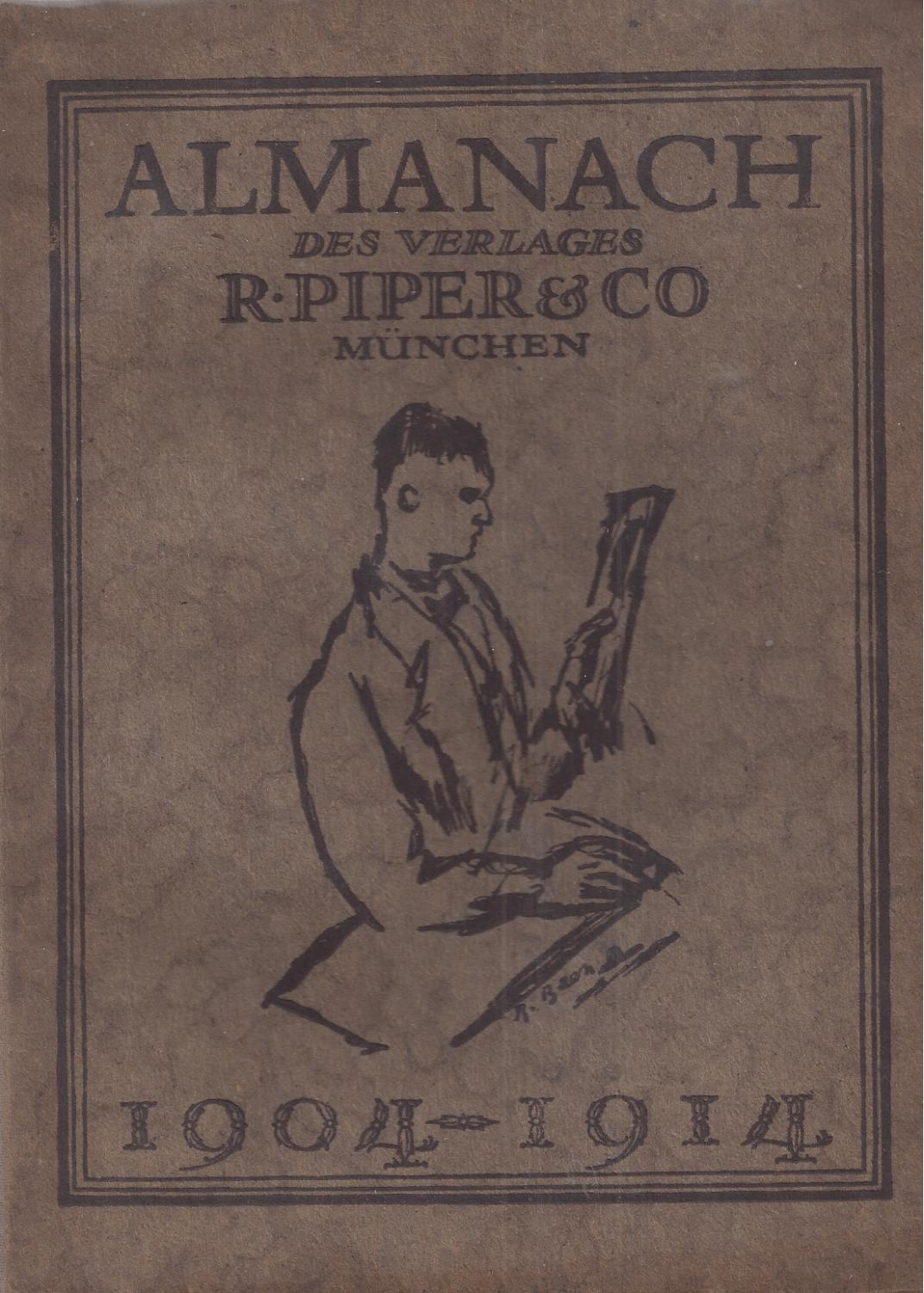 ALMANACH DES VERLAGES R. PIPER & CO.: Piper, R. -