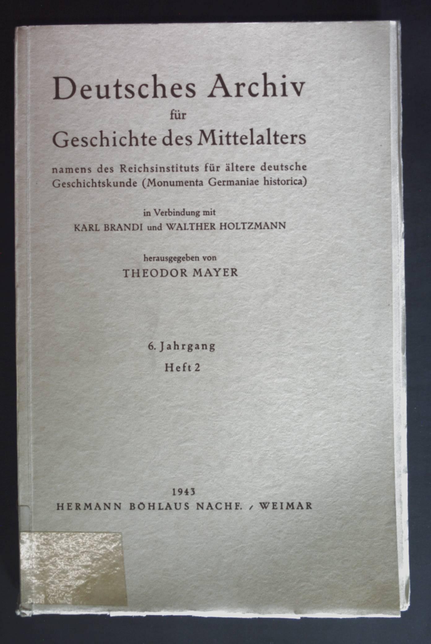 Königtum und Gemeinfreiheit im frühen Mittelalter -: Brandi, Karl, Walther